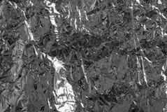 Ασημένιο έγγραφο του φύλλου αλουμινίου Στοκ Φωτογραφίες