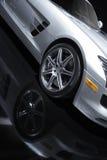 Ασημένιο αθλητικό αυτοκίνητο Στοκ εικόνες με δικαίωμα ελεύθερης χρήσης