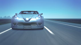 Ασημένιο αθλητικό αυτοκίνητο απεικόνιση αποθεμάτων