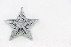 Ασημένιο αστέρι Χριστουγέννων στοκ φωτογραφία με δικαίωμα ελεύθερης χρήσης