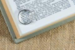 Ασημένιο δαχτυλίδι στη λέξη αγάπης Στοκ Εικόνες