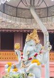 Ασημένιο γλυπτό κινηματογραφήσεων σε πρώτο πλάνο ganesh στο ναό Chiang Mai, Thaila Στοκ Φωτογραφία