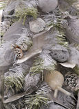 ασημένιο δέντρο Χριστουγέ Στοκ Εικόνες