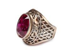 Ασημένιο δαχτυλίδι έξι Στοκ Φωτογραφίες