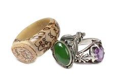 Ασημένιο δαχτυλίδι πέντε Στοκ φωτογραφία με δικαίωμα ελεύθερης χρήσης