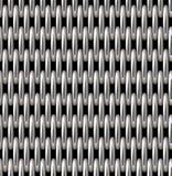 Ασημένιο διανυσματικό άνευ ραφής σχέδιο πλέγματος Στοκ Εικόνες