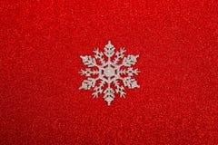 Ασημένιο διακοσμητικό snowflake Στοκ εικόνα με δικαίωμα ελεύθερης χρήσης