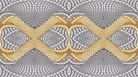 Ασημένιο και χρυσό αφηρημένο υπόβαθρο για το σχέδιο των κλωστοϋφαντουργικών προϊόντων, Στοκ Φωτογραφίες
