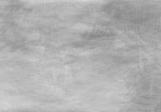 Ασημένιο κατασκευασμένο υπόβαθρο με τα φυσικά ακρυλικά στοιχεία εγγράφου και χρωμάτων Στοκ Φωτογραφία