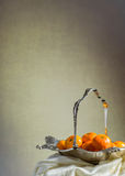 Ασημένιο καλάθι Στοκ εικόνα με δικαίωμα ελεύθερης χρήσης