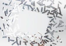 Ασημένιο κομφετί metafun Στοκ Εικόνα