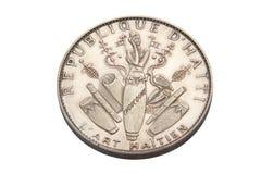Ασημένιο νόμισμα από την Αϊτή Στοκ εικόνα με δικαίωμα ελεύθερης χρήσης