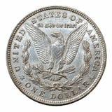 Ασημένιο νόμισμα δολαρίων του Morgan στοκ εικόνες