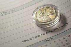 Ασημένιο νόμισμα Στοκ Φωτογραφία
