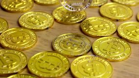 Ασημένιο νόμισμα Litecoin απόθεμα βίντεο