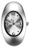 ασημένιο ρολόι Στοκ Εικόνες