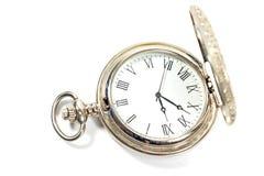Ασημένιο ρολόι τσεπών Στοκ φωτογραφία με δικαίωμα ελεύθερης χρήσης