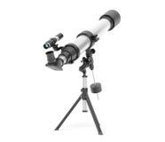 Ασημένιο τηλεσκόπιο στο τρίποδο στοκ εικόνα με δικαίωμα ελεύθερης χρήσης