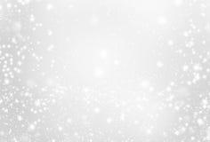 Ασημένιο υπόβαθρο με το σπινθήρισμα - αφηρημένο γκρίζο και άσπρο ligh Στοκ εικόνες με δικαίωμα ελεύθερης χρήσης