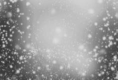 Ασημένιο υπόβαθρο με το σπινθήρισμα - αφηρημένο γκρίζο και άσπρο ligh Στοκ Εικόνες