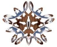 Ασημένιο χειμερινό snowflake σε ένα άσπρο υπόβαθρο Στοκ εικόνες με δικαίωμα ελεύθερης χρήσης