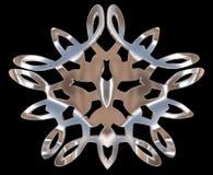 Ασημένιο χειμερινό snowflake σε ένα μαύρο υπόβαθρο Στοκ φωτογραφίες με δικαίωμα ελεύθερης χρήσης