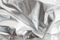 Ασημένιο ύφασμα φύλλων αλουμινίου Στοκ εικόνα με δικαίωμα ελεύθερης χρήσης