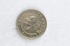 25 ασημένιο alu νομισμάτων της Τουρκίας Kurus Στοκ φωτογραφία με δικαίωμα ελεύθερης χρήσης