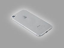 Ασημένιο iPhone 7 νέο προϊόν της Apple Στοκ Εικόνα