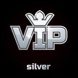 Ασημένιο VIP διανυσματικό σύμβολο, σύνολο 2 Στοκ εικόνα με δικαίωμα ελεύθερης χρήσης