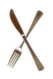 ασημικές μαχαιριών δικράνω& Στοκ Φωτογραφίες