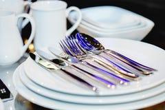 ασημικές πιάτων στοκ εικόνες