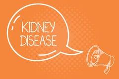 Ασθένεια νεφρών κειμένων γραφής Η έννοια που σημαίνει τα νεφρά δεν μπορεί πλέον να εκτελέσει τις λειτουργίες της στη πλήρη απόδοσ απεικόνιση αποθεμάτων