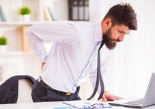 Ασθένεια στο γραφείο στοκ εικόνα με δικαίωμα ελεύθερης χρήσης