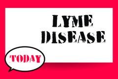 Ασθένεια Lyme κειμένων γραψίματος λέξης Επιχειρησιακή έννοια για τη μορφή αρθρίτιδας που προκαλείται από τα βακτηρίδια που διαδίδ διανυσματική απεικόνιση