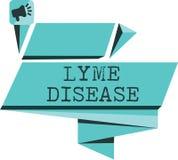 Ασθένεια Lyme κειμένων γραψίματος λέξης Επιχειρησιακή έννοια για τη μορφή αρθρίτιδας που προκαλείται από τα βακτηρίδια που διαδίδ ελεύθερη απεικόνιση δικαιώματος
