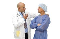 ασθενής γιατρών Στοκ Φωτογραφίες