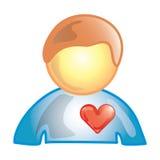 ασθενής εικονιδίων καρδιών Στοκ φωτογραφία με δικαίωμα ελεύθερης χρήσης