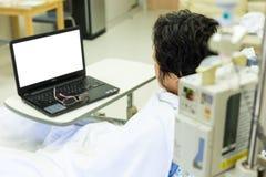 Ασθενής και υπολογιστής Στοκ φωτογραφία με δικαίωμα ελεύθερης χρήσης