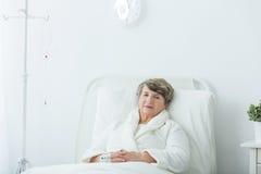 Ασθενής νοσοκομείου κατά τη διάρκεια της επεξεργασίας Στοκ Εικόνα