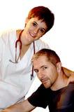 ασθενής νοσοκόμων στοκ εικόνα