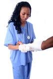 ασθενής νοσοκόμων στοκ εικόνα με δικαίωμα ελεύθερης χρήσης