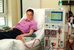 Ασθενής στη μηχανή διάλυσης Στοκ φωτογραφία με δικαίωμα ελεύθερης χρήσης