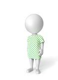 Ασθενής στο λευκό διανυσματική απεικόνιση
