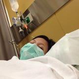 Ασθενής στο νοσοκομείο Στοκ φωτογραφία με δικαίωμα ελεύθερης χρήσης