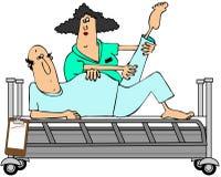 Ασθενής στο rehab απεικόνιση αποθεμάτων