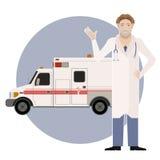 Ασθενοφόρο και ένα Doctor2 Στοκ εικόνες με δικαίωμα ελεύθερης χρήσης