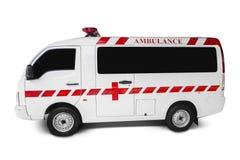 Ασθενοφόρο στην άσπρη ανασκόπηση Στοκ Φωτογραφίες