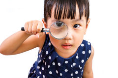 Ασιάτης λίγη κινεζική ενίσχυση εκμετάλλευσης κοριτσιών - γυαλί Στοκ φωτογραφίες με δικαίωμα ελεύθερης χρήσης