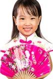 Ασιάτης λίγος κινεζικός ασιατικός ανεμιστήρας εκμετάλλευσης κοριτσιών Στοκ φωτογραφίες με δικαίωμα ελεύθερης χρήσης